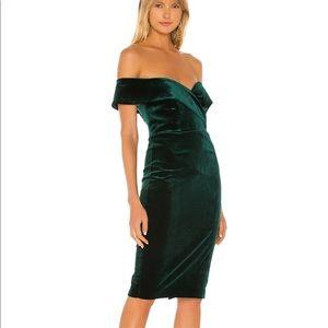 REVOLVE - Bardot green velvet dress